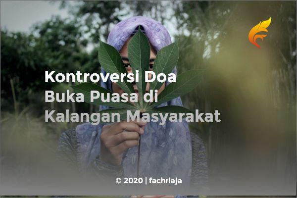 Kontroversi DoaBuka Puasa di Kalangan Masyarakat